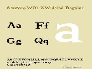 ScrewbyW01-XWideBd Regular Version 1.00图片样张
