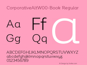 CorporativeAltW00-Book Regular Version 1.00 Font Sample