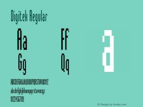 Digitek Regular Version 2.0 Font Sample