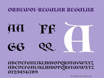OrbeW01-Regular Regular Version 1.20图片样张