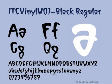 ITCVinylW01-Black Regular Version 1.00 Font Sample
