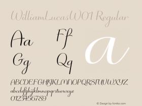 WilliamLucasW01 Regular Version 1.02 Font Sample