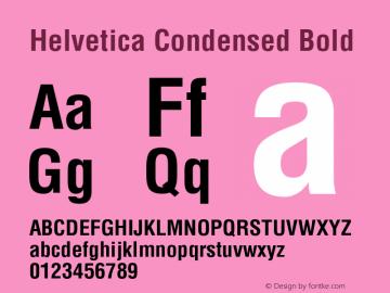 Helvetica Condensed Bold Version 1.0图片样张