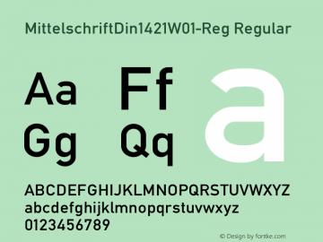 MittelschriftDin1421W01-Reg Regular Version 1.00 Font Sample