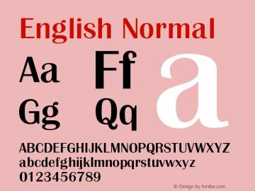 English Normal Version 1.000图片样张