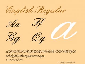 English Regular Converted from D:\FONTTEMP\TT0840M_.TF1 by ALLTYPE图片样张