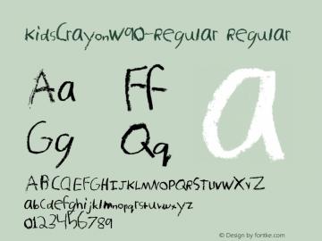 KidsCrayonW90-Regular Regular Version 1.00 Font Sample
