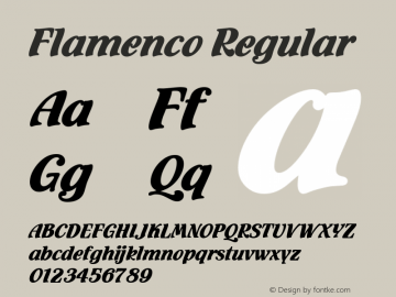 Flamenco Regular Version 001.005 Font Sample