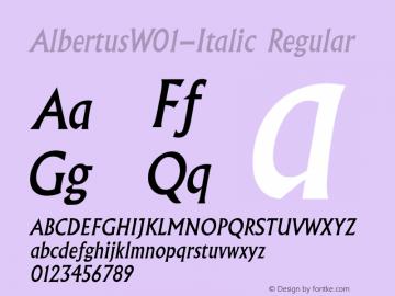 AlbertusW01-Italic Regular Version 1.02图片样张