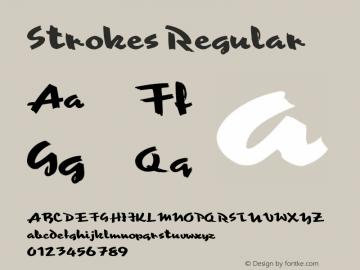 Strokes Regular Altsys Fontographer 3.5  5/26/93 Font Sample