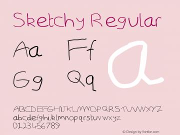 Sketchy Regular Version 5.01 February 1, 2009图片样张