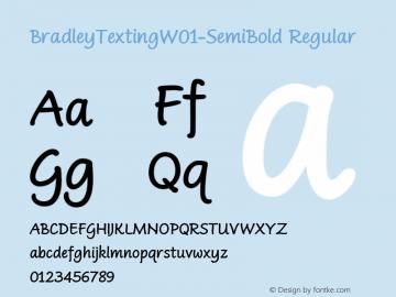 BradleyTextingW01-SemiBold Regular Version 1.0 Font Sample