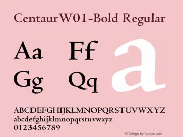 CentaurW01-Bold Regular Version 1.02图片样张