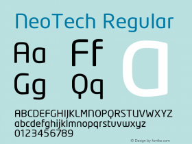 NeoTech Regular Version 1.000;PS 001.001;hotconv 1.0.38 Font Sample