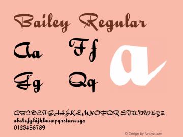 Bailey Regular 001.001 Font Sample