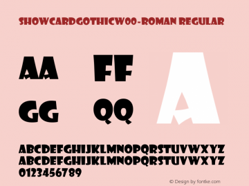 ShowcardGothicW00-Roman Regular Version 1.1图片样张