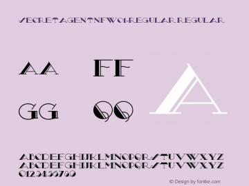 SecretAgentNFW01-Regular Regular Version 1.30 Font Sample