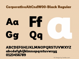 CorporativeAltCndW00-Black Regular Version 1.00 Font Sample