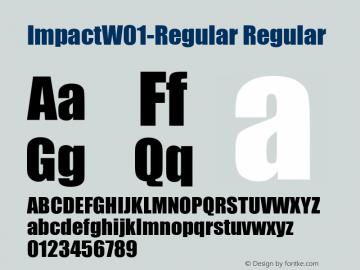 ImpactW01-Regular Regular Version 5.10图片样张