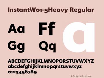 InstantW01-5Heavy Regular Version 1.20 Font Sample