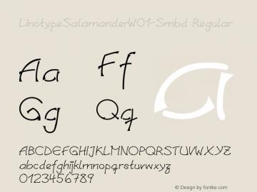 LinotypeSalamanderW01-Smbd Regular Version 1.01 Font Sample