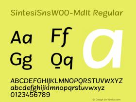 SintesiSnsW00-MdIt Regular Version 1.00图片样张