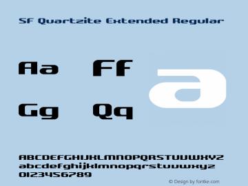 SF Quartzite Extended Regular v2.0 - Freeware图片样张