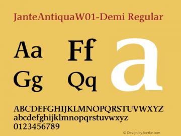 JanteAntiquaW01-Demi Regular Version 1.01图片样张