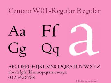 CentaurW01-Regular Regular Version 1.02 Font Sample