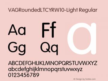 VAGRoundedLTCYRW10-Light Regular Version 1.00图片样张