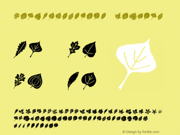 LeafAssortment Regular Version 4.10 Font Sample