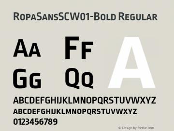 RopaSansSCW01-Bold Regular Version 1.10图片样张