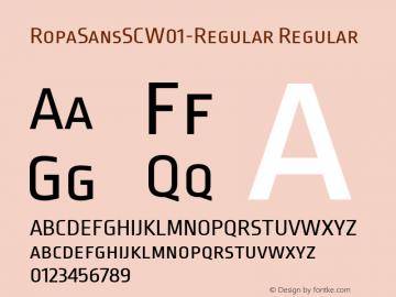 RopaSansSCW01-Regular Regular Version 1.10图片样张