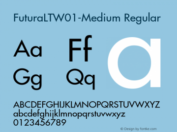 FuturaLTW01-Medium Font,Futura LT W01 Medium Font|Futura LT