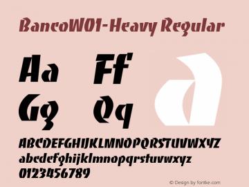 Banco-Heavy Font Family|Banco-Heavy-Art Typeface-Fontke com