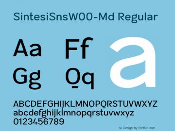 SintesiSnsW00-Md Regular Version 1.00图片样张