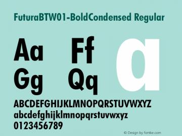 FuturaBTW01-BoldCondensed Regular Version 1.00图片样张