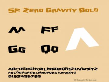SF Zero Gravity Bold Version 1.1图片样张