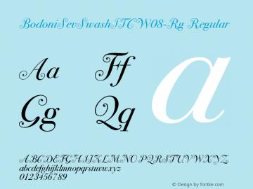 BodoniSevSwashITCW08-Rg Regular Version 1.00图片样张