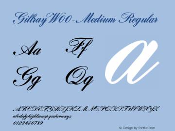GillrayW00-Medium Regular Version 1.00图片样张
