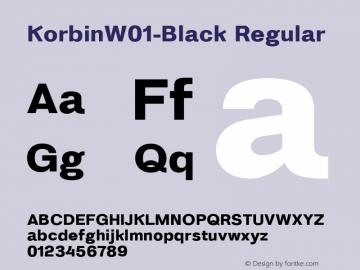 KorbinW01-Black Regular Version 1.0 Font Sample