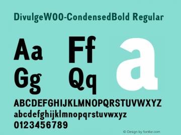 DivulgeW00-CondensedBold Regular Version 1.10图片样张