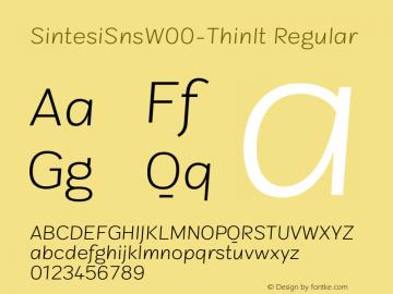 SintesiSnsW00-ThinIt Regular Version 1.00 Font Sample