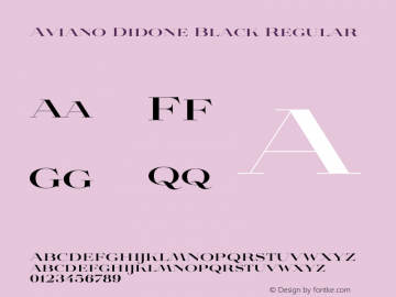 Aviano Didone Black Regular Version 1.00 Font Sample