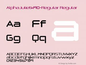 AlphaJulietW90-Regular Regular Version 1.00 Font Sample