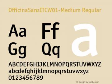 OfficinaSansITCW01-Medium Regular Version 1.03 Font Sample