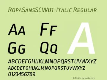 RopaSansSCW01-Italic Regular Version 1.10图片样张