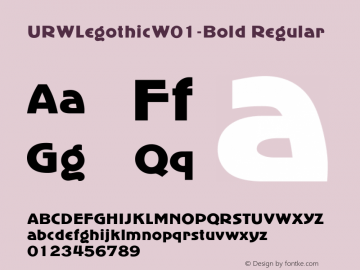URWLegothicW01-Bold Regular Version 1.00图片样张