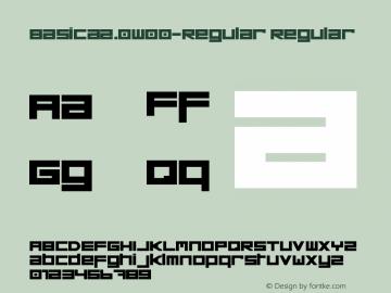 Basica2.0W00-Regular Regular Version 1.00图片样张