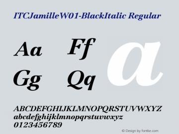 ITCJamilleW01-BlackItalic Regular Version 1.00 Font Sample